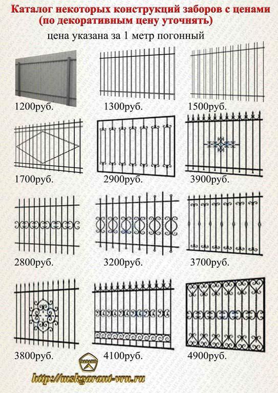 заборы из металла